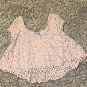 Charlotte Russe cute lace crop top